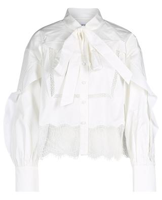 Cotton blouse with ruffles and lace SELF PORTRAIT