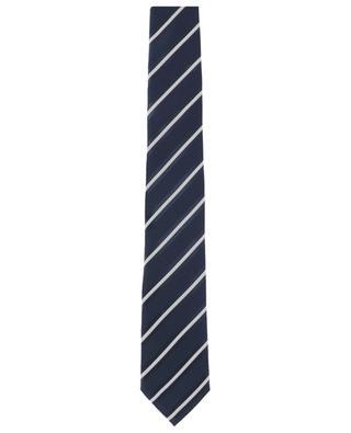 Diagonal textured silk tie ERMENEGILDO ZEGNA