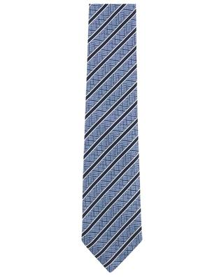 Gestreifte Krawatte aus texturierter Seide ERMENEGILDO ZEGNA