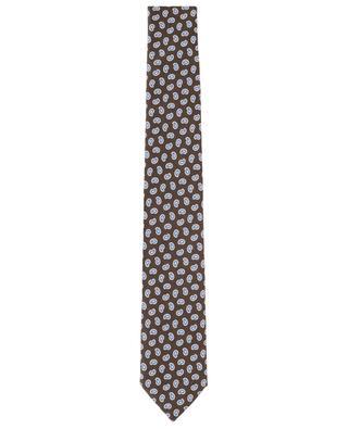 Krawatte aus texturierter Seide mit Paisley-Detail-Print ERMENEGILDO ZEGNA