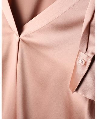 Loose V-neck blouse in silk satin VINCE