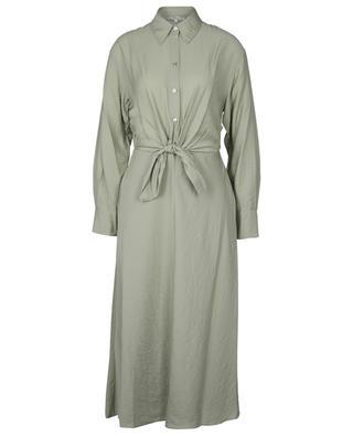 Long-sleeve viscose, lyocell-blend dress VINCE