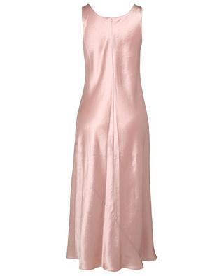 Midi-length square neck satin dress VINCE