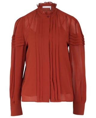Ruffled crepe blouse SEE BY CHLOE