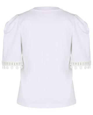 T-shirt en jersey embelli de dentelle graphique SEE BY CHLOE
