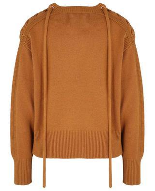 Dicker Boxy-Pullover mit Schulterschnürungen SEE BY CHLOE