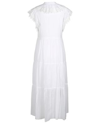 Midi-length tiered flounced cotton and floral lace dress SEE BY CHLOE