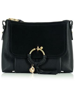 Joan Small grained leather and suede cross body bag SEE BY CHLOE