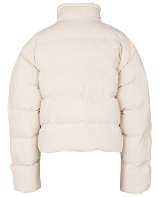 Shearling Short cropped textured nylon down jacket IENKI IENKI