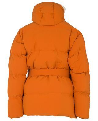 Michlin oversized textured nylon and shearling down jacket IENKI IENKI