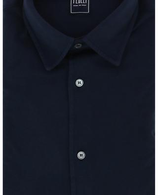 Long-sleeved monochrome Giza organic jersey shirt FEDELI