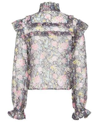 Agnes Dark Purple printed floral lace top ROTATE BIRGER CHRISTENSEN