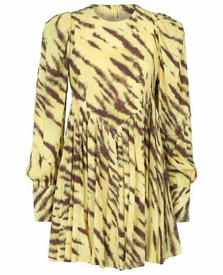 Alison Tiger AOP Muted Lime printed crepe mini dress ROTATE BIRGER CHRISTENSEN