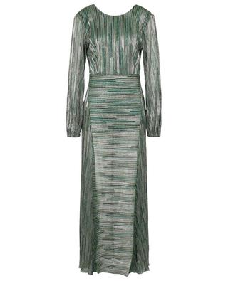 Robe longue en lurex rayé à manches bouffantes Lisa ROTATE BIRGER CHRISTENSEN