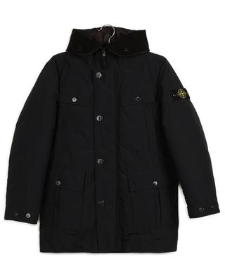 Water repellent padded parka with hood STONE ISLAND JUNIOR
