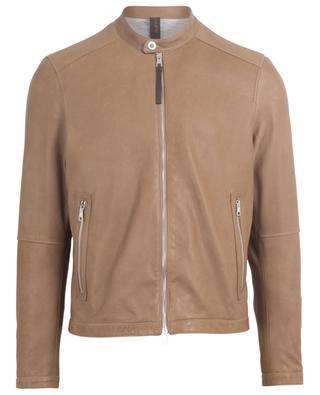 Leichte Nappaleder-Jacke mit Reissverschluss Rust RUFFO