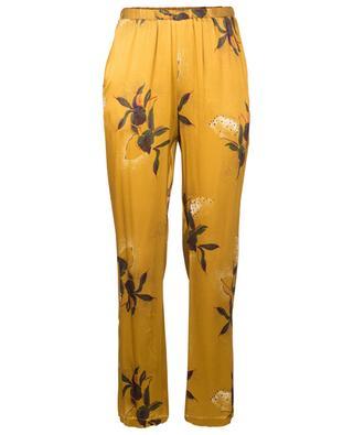 Pantalon en viscose fleuri Abba TOUPY
