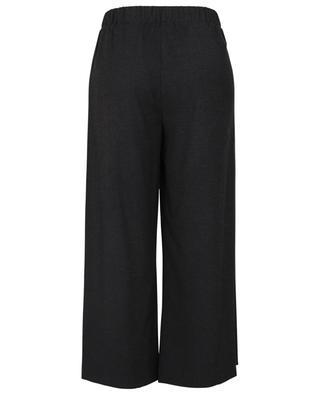 Pantalon large raccourci en flanelle Fercamp TOUPY