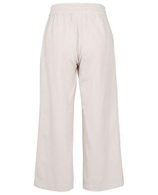 Pantalon large raccourci en velours côtelé Sophia TOUPY