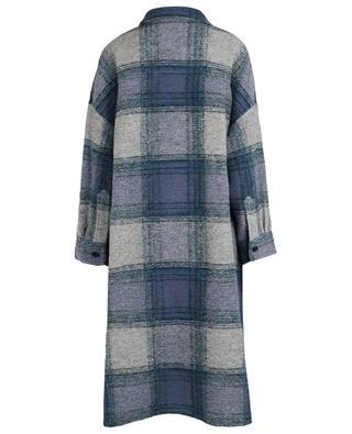Karierter Oversize-Mantel aus Wolle Gabrion ISABEL MARANT
