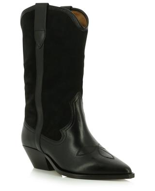 Dandrea cowboy spirit suede and leather ankle boots ISABEL MARANT