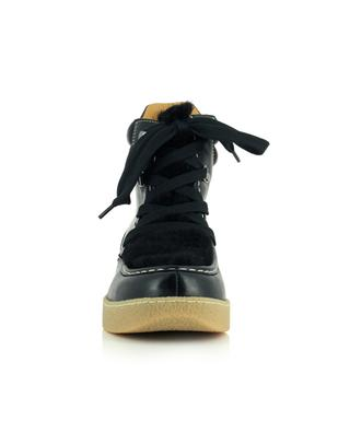 Alpica leather and shearling lace-up booties in hiking spirit ISABEL MARANT