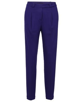 Pantalon violet cigarette en laine WINDSOR