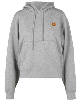 Tiger Crest patch embroidered boxy hooded sweat-shirt KENZO