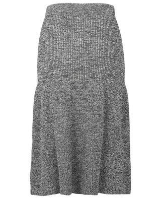 Cotton blend A-line knit skirt KENZO