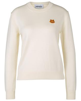 Pull col rond en laine avec broderie Tiger Crest KENZO