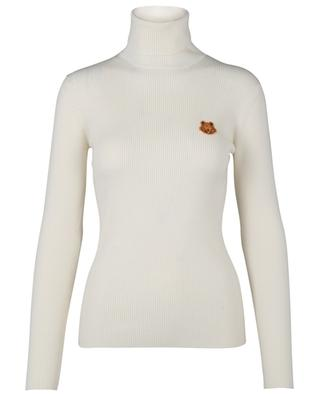 Tiger Crest wool turtle neck jumper with embroidery KENZO
