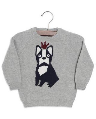 Baby-Jacquard-Pullover mit Hündchen-Motiv IL GUFO