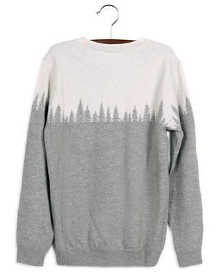 Jacquard forest wool jumper IL GUFO
