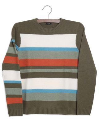 Super 100's wool striped crewneck jumper IL GUFO