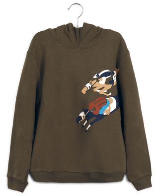 Hooded sweatshirt with race horse print IL GUFO
