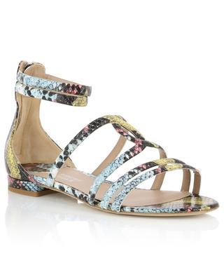 Ester polychrome python effect flat leather sandals BONGENIE GRIEDER