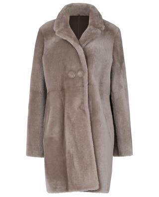 Langer Mantel aus echtem Lammfell SLY 010