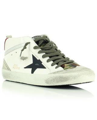 Hohe Sneakers aus Leder, Wildleder und Camouflage-Stoff Mid Star Classic GOLDEN GOOSE