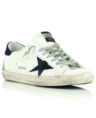 Niedrige weisse Ledersneakers mit schwarzem Stern Superstar Classic GOLDEN GOOSE