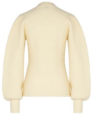 Pull en alpaga et laine mélangées à manches bouffantes GANNI