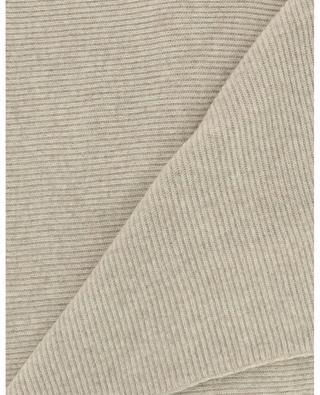 Écharpe côtelée en laine recyclée GANNI