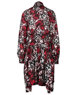 Midilanges Hemdkleid aus geblümter Seide Habutai Daisy ALAIA