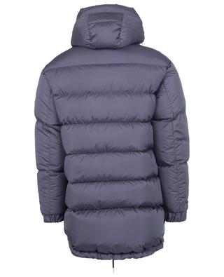 Moncenisio long fitted logo print down jacket MONCLER