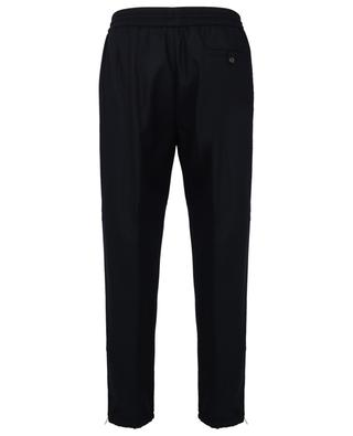 Wool felt jogging trousers with logo patch MONCLER