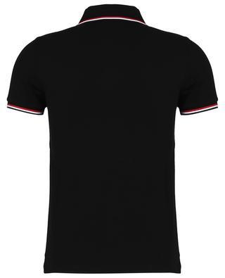 Slim-Fit-Polohemd mit blau-weiss-rotem Detail und Logostickerei MONCLER