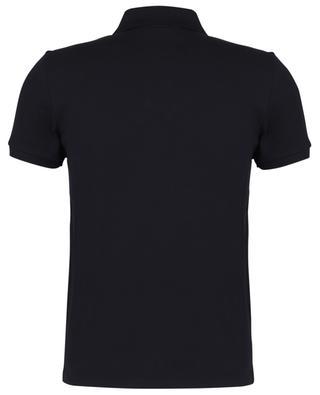 Macro Logo embroidered slim fit cotton piqué polo shirt MONCLER