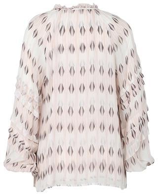 Bluse aus Crêpe mit Print und Puffärmeln Pola HEMISPHERE