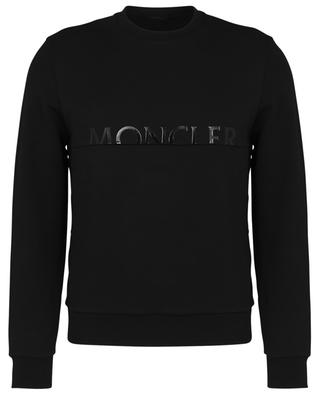Tonal logo print crewneck sweatshirt MONCLER