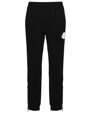 Track trousers with topstitched creases and logo patch MONCLER