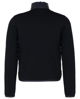 Milano knit cardigan with down yoke MONCLER